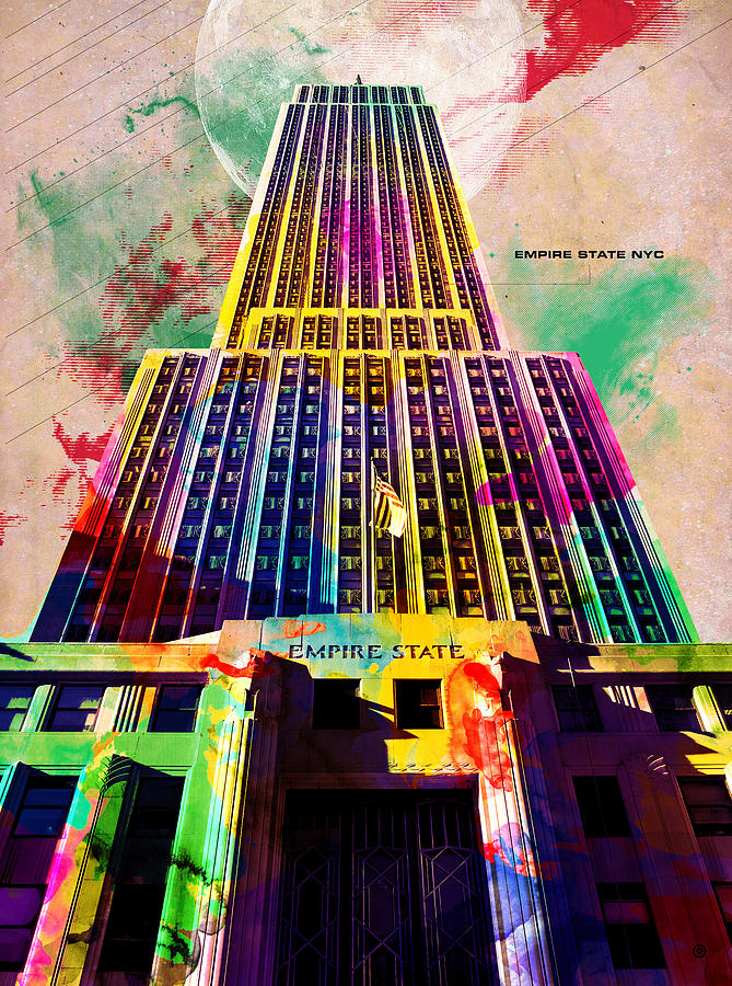 Empire State Digital Art  - Empire State Fine Art Print