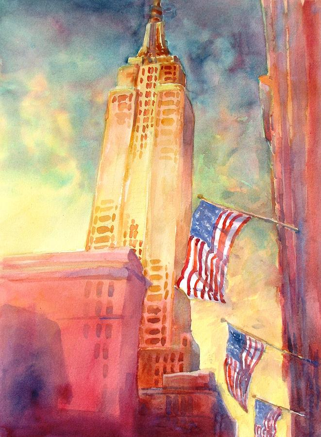 Empire State Painting by Virgil Carter