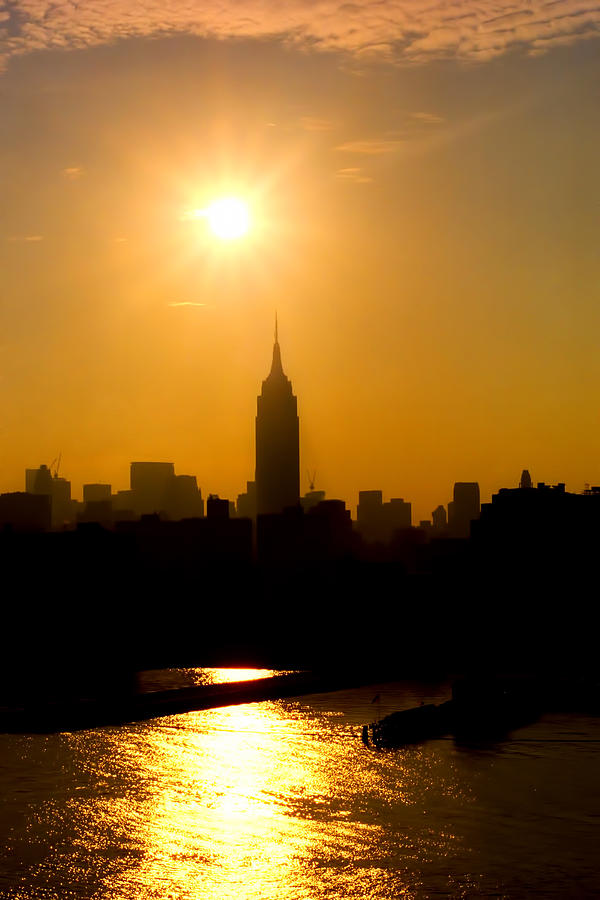Empire State Building Photograph - Empire Sunrise by Joann Vitali