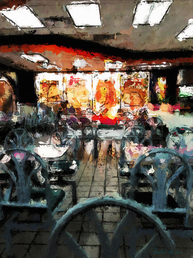 Empty Restaurant Painting  - Empty Restaurant Fine Art Print