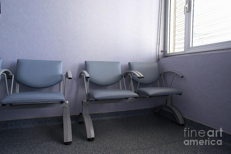 Empty Seats In A Waiting Room Photograph