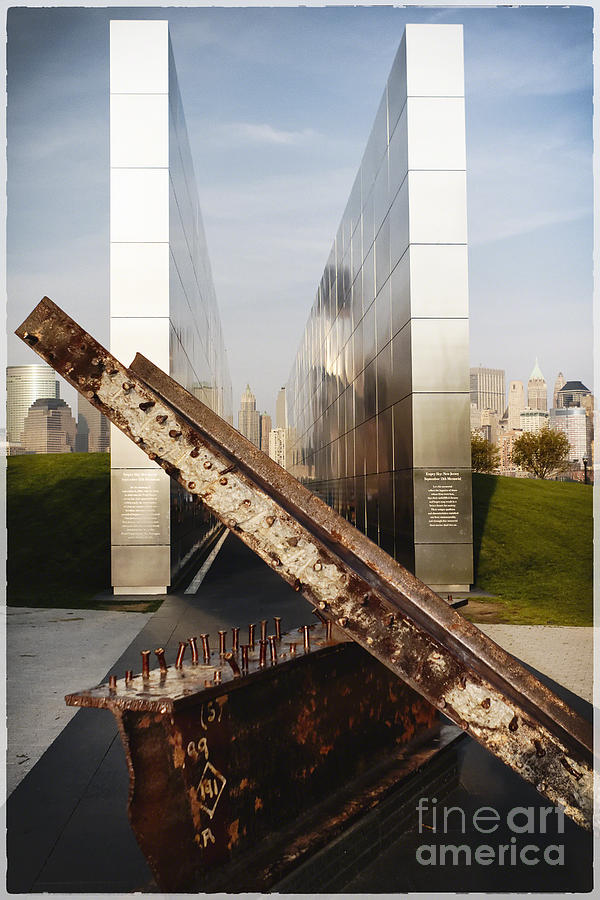 Empty Sky Photograph - Empty Sky New Jersey September 11th Memorial by George Oze