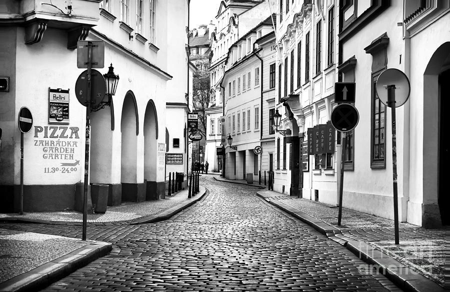 Empty Street In Prague Photograph