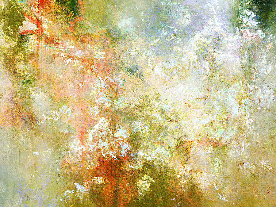 Enchanted Blossoms - Abstract Art Mixed Media