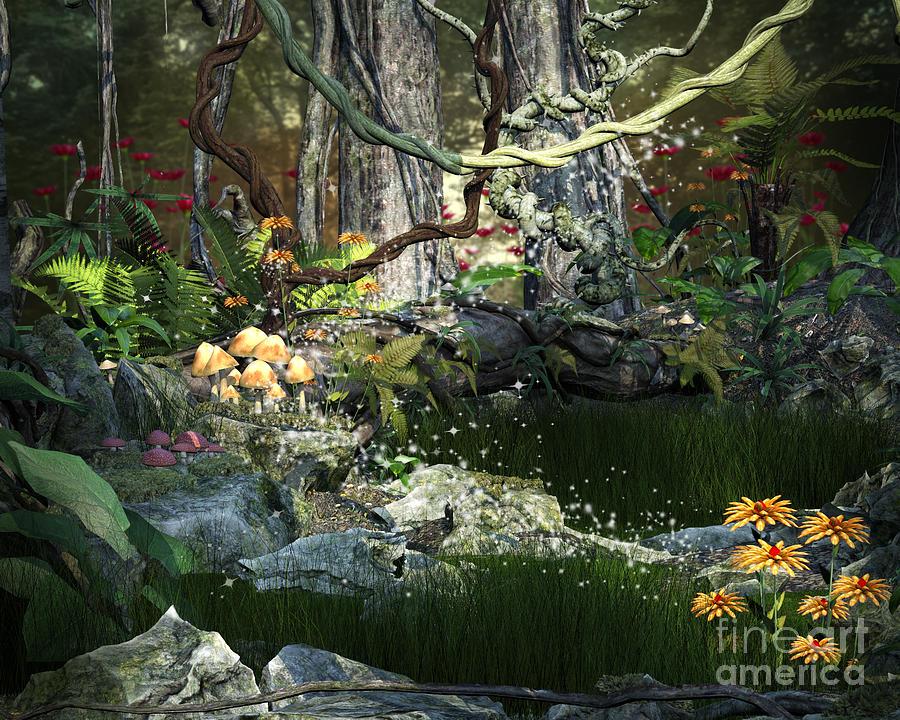 enchanted mushroom wallpaper - photo #19