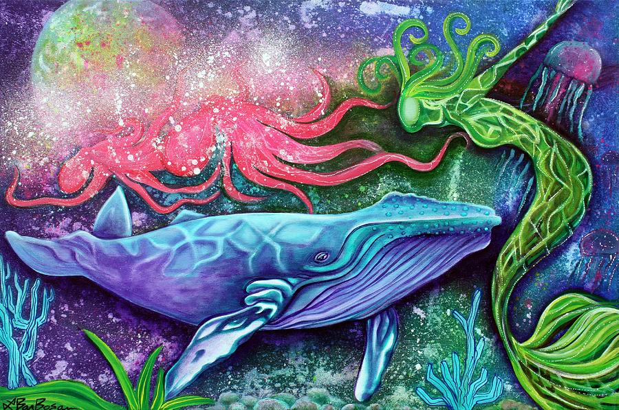 Enchanted Ocean Painting  - Enchanted Ocean Fine Art Print