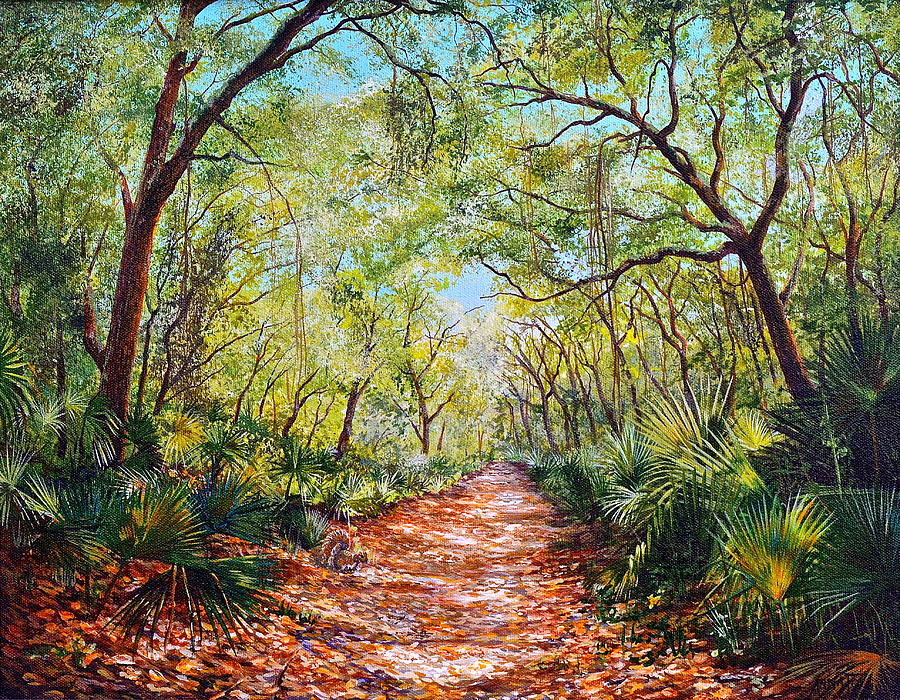 Enchanted Path Painting  - Enchanted Path Fine Art Print