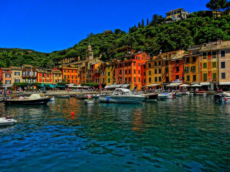 Portofino Painting Photograph - Enchanting Portofino In Ligure Italy I by M Bleichner