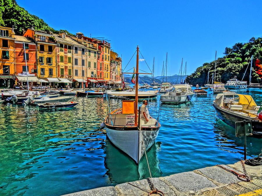 Portofino Painting Photograph - Enchanting Portofino In Ligure Italy Iv by M Bleichner
