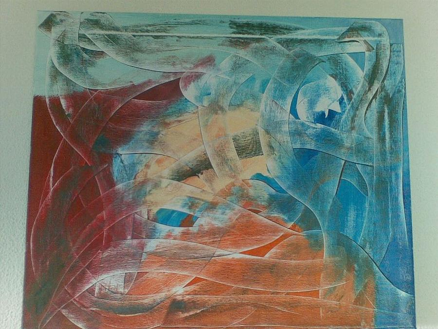 Abstrato Painting - Encruzilhada by Mario Cruz