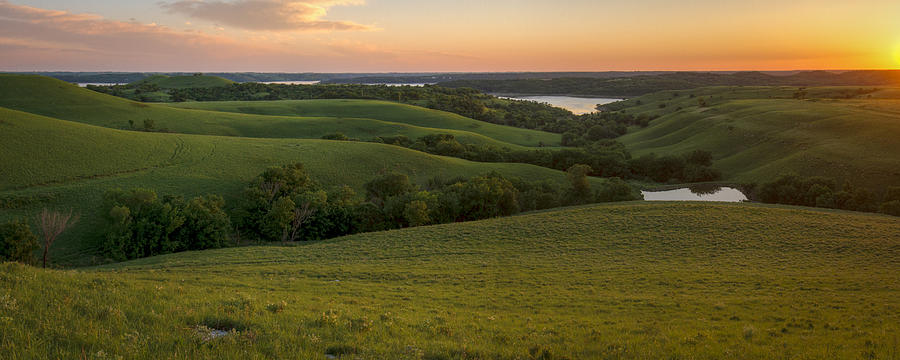 End Of The Day In The Flint Hills Photograph