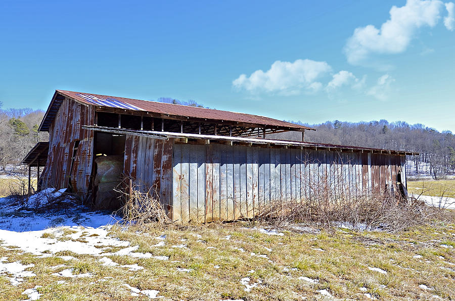 Barn Photograph - End Of Winter by Susan Leggett