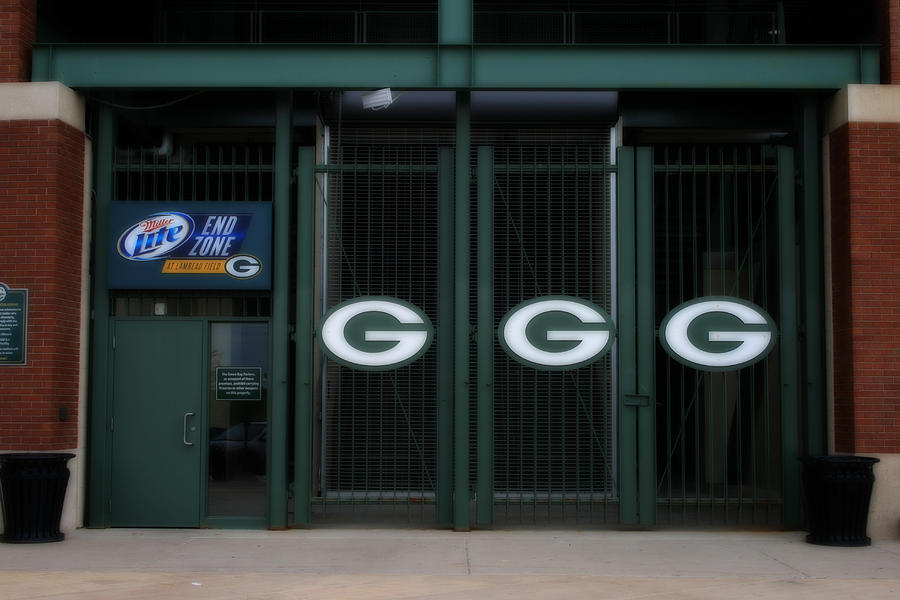 End Zone Gates At Lambeau Field Photograph By Kay Novy