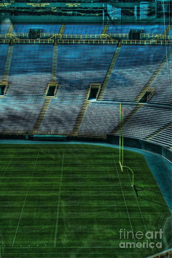End Zone Lambeau Field Photograph By Tommy Anderson