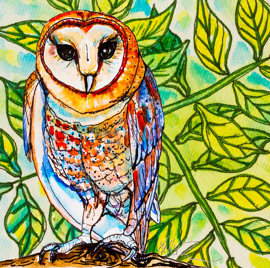 Colorful Owl  Full Drill Diamond Painting  CaseFloral