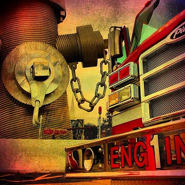 Fire Photograph - Engine 1 by Benjamin Prater