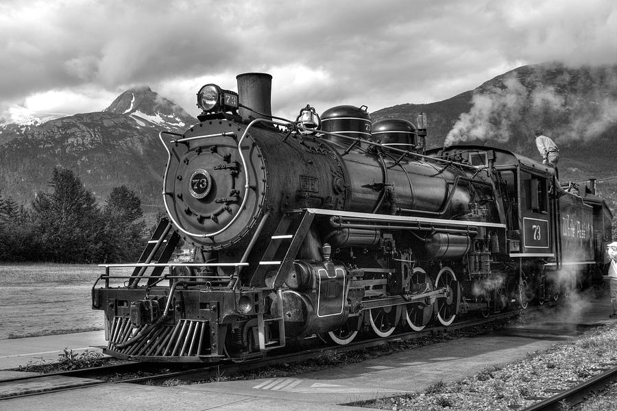 Aged Photograph - Engine 73 by Dawn Currie