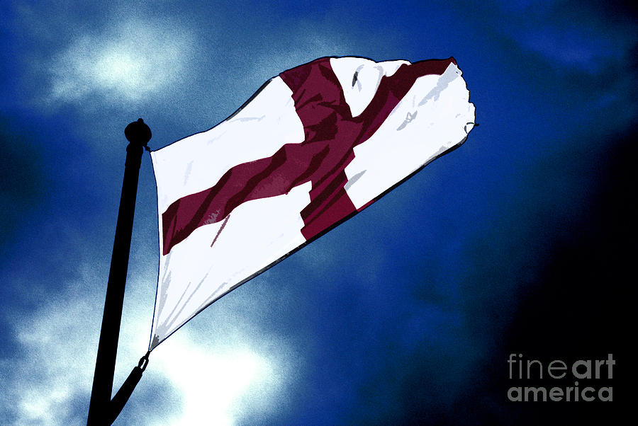 English Flag Mixed Media  - English Flag Fine Art Print