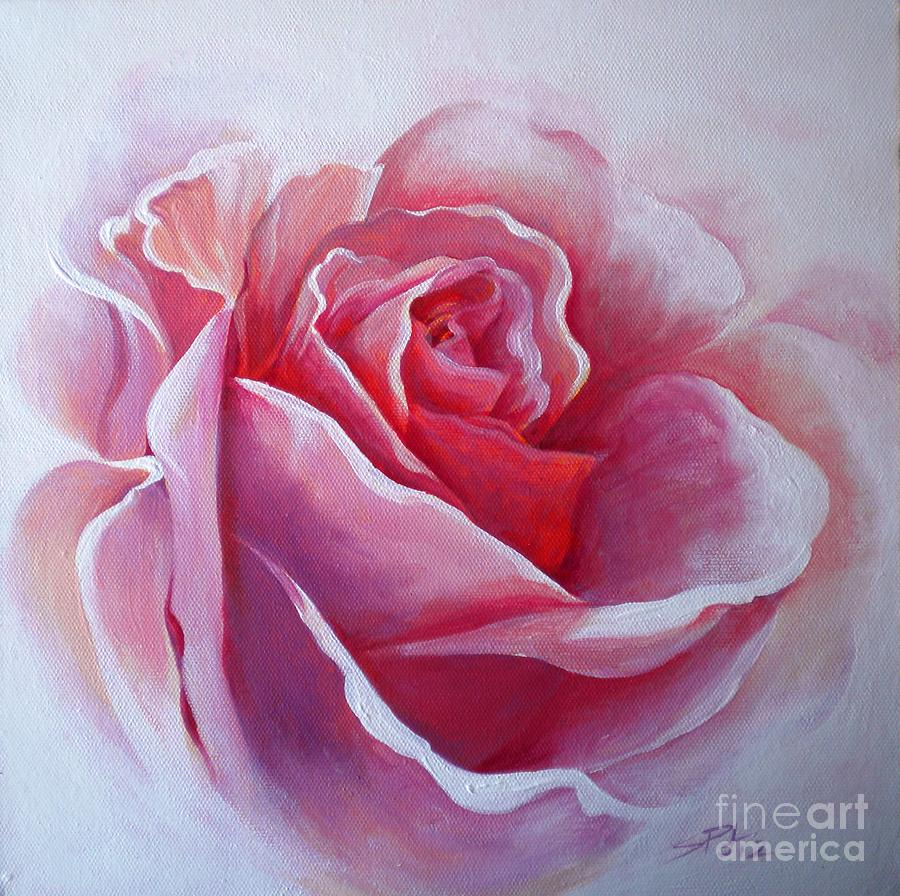 Pink Rose Canvas Painting