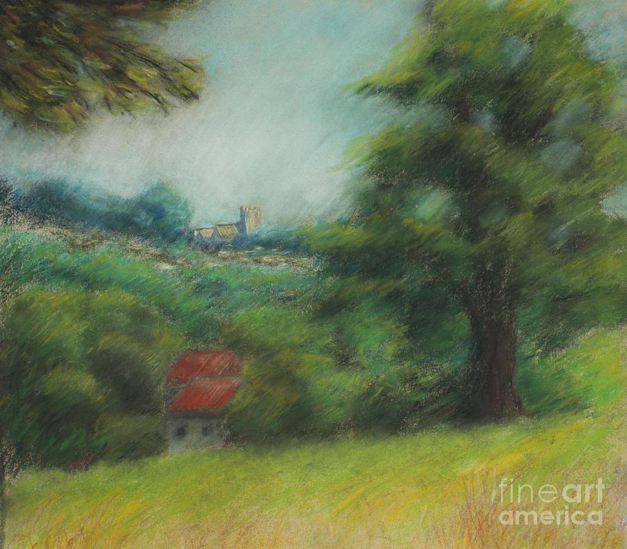 English Summer Landscape  Painting