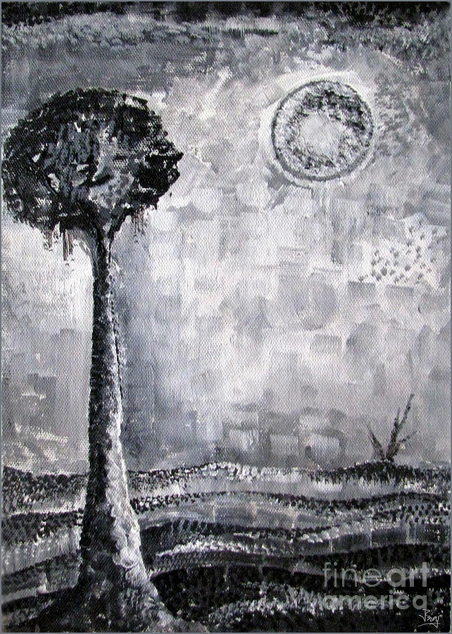 Acrylic Painting Painting - Enigmatic by Prajakta P