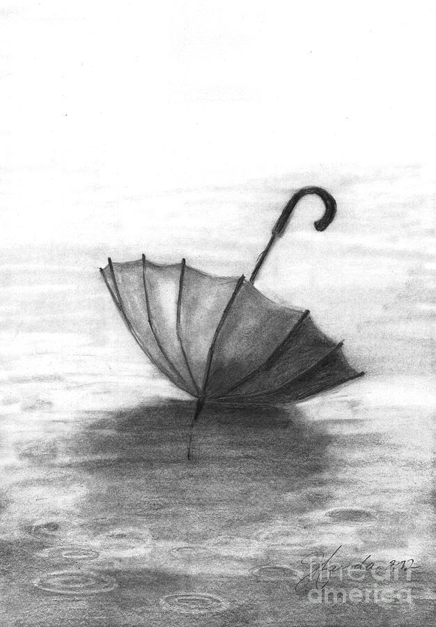 Rain Drawing - Enjoy The Raindrops by J Ferwerda