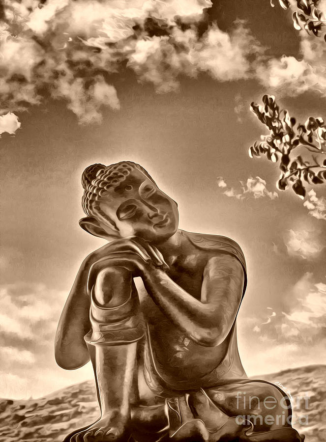 Peaceful Buddha Photograph - Enlightenment 2 by Cheryl Young