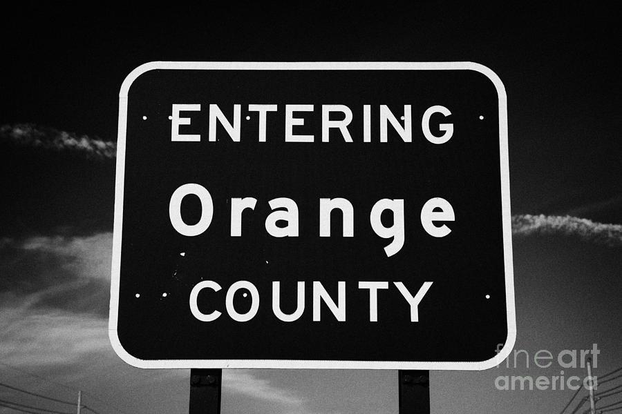 Entering Photograph - Entering Orange County Near Orlando Florida Usa by Joe Fox