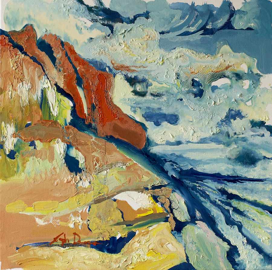 Landscape Painting - Entertainment by Joseph Demaree