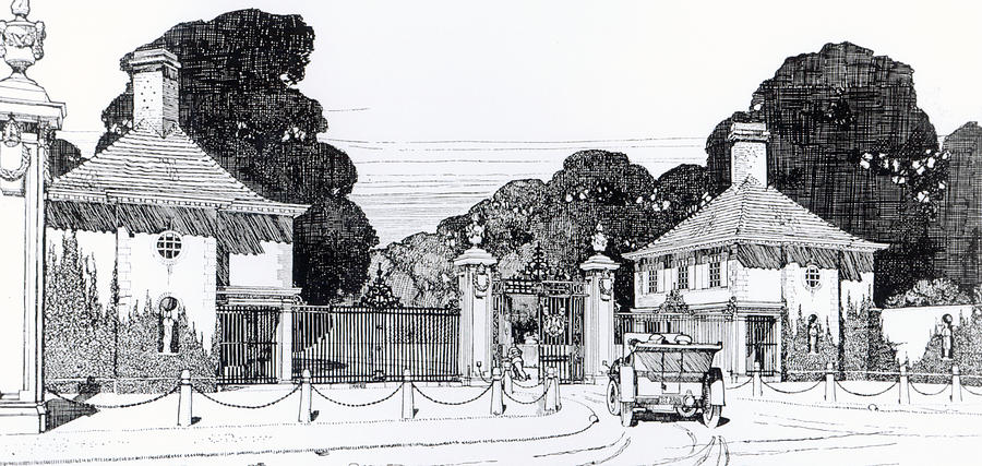 Entrance To Brooklandwood Drawing