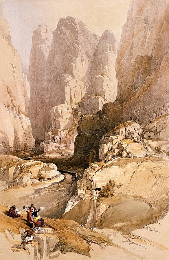 Entrance To Petra Painting
