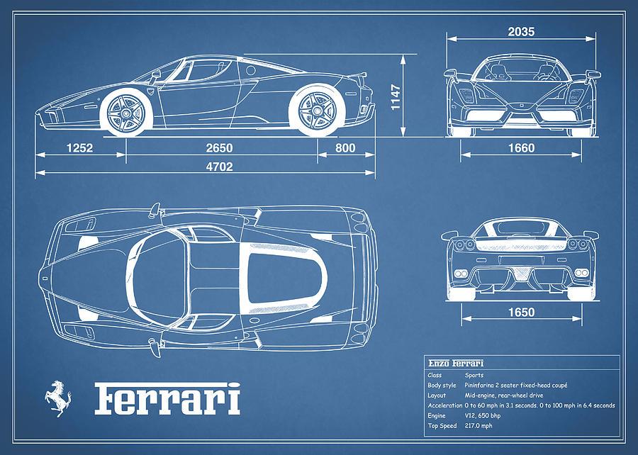 Ferrari Blueprint 458ferrari Blueprint Ferrarienzo