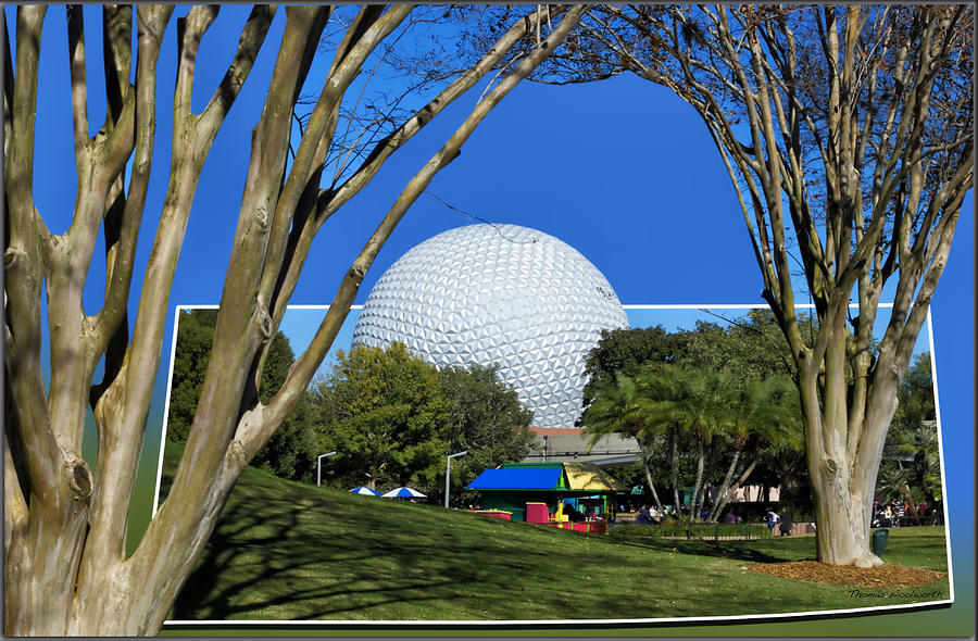 Out Of Bounds Photograph - Epcot Globe 02 by Thomas Woolworth