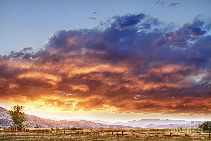 Epic Colorado Country Sunset Landscape Photograph