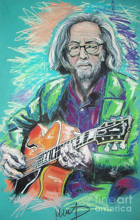 Eric Clapton  Drawing - Eric Clapton by Melanie D