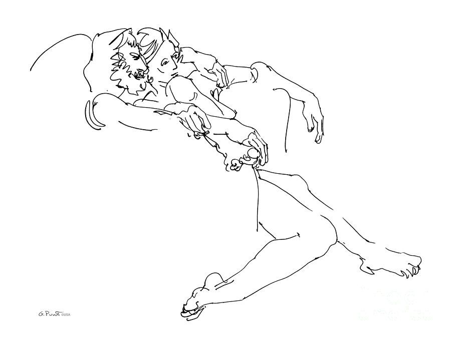erotic line drawing
