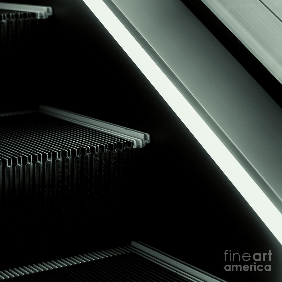 Escalator 04 Photograph  - Escalator 04 Fine Art Print