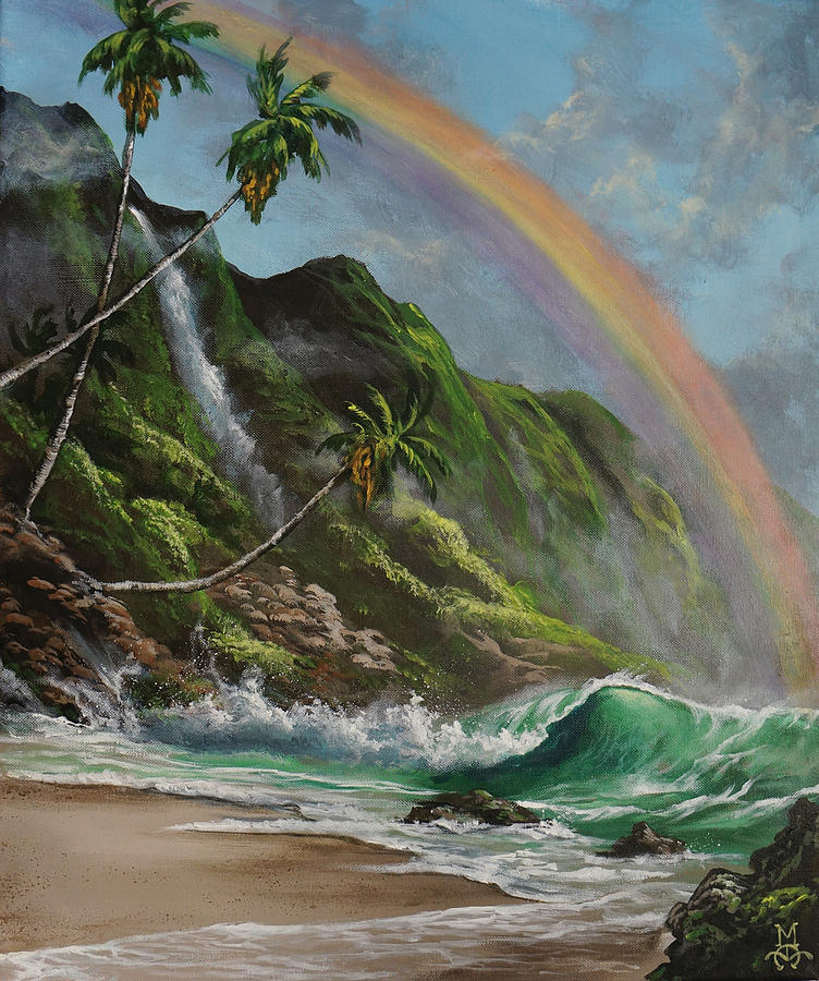 Escape To Paradise Painting  - Escape To Paradise Fine Art Print