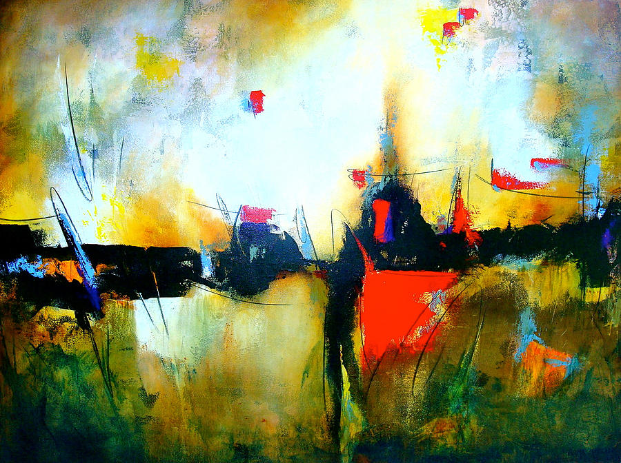Abstract Painting - Espejismos by Thelma Zambrano
