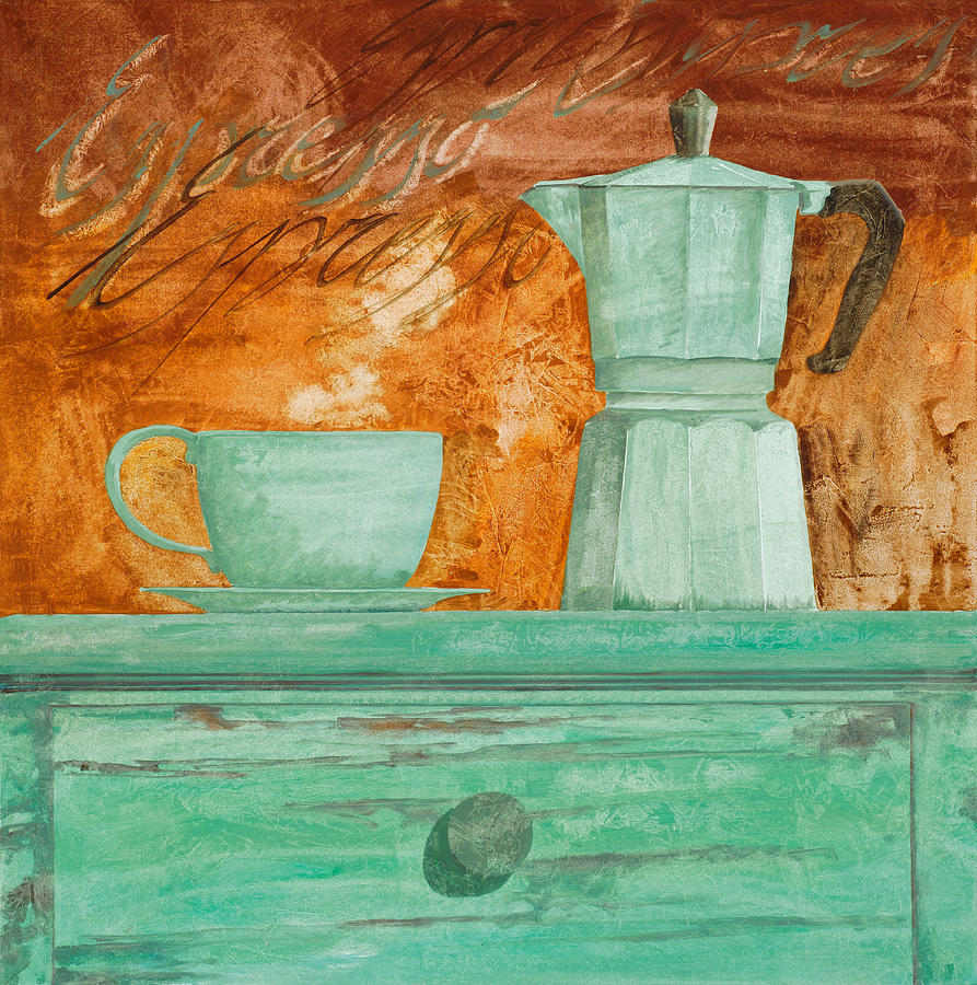 Caffe Painting - Espresso by Guido Borelli