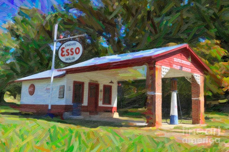 Esso Station Digital Art