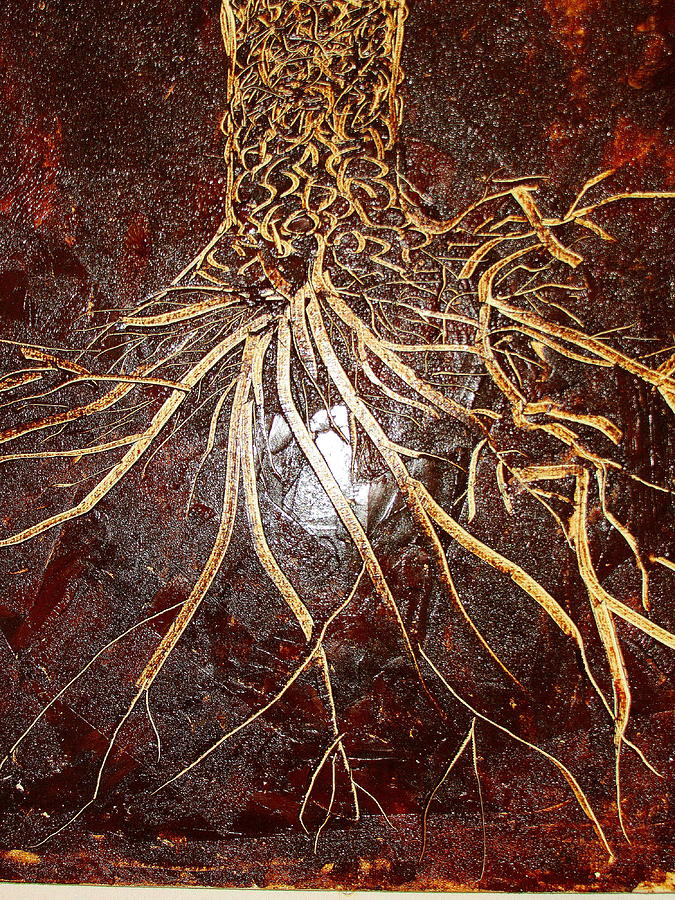 Tree Painting - Etching Tree by Raahi Raza