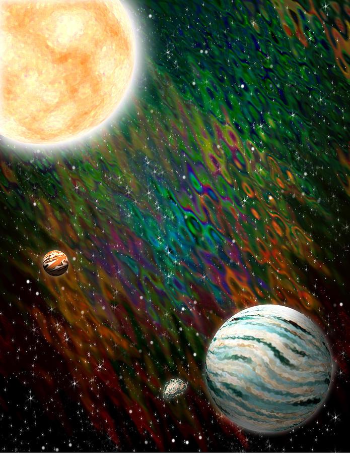 Planet Digital Art - Etera by Piero Lucia