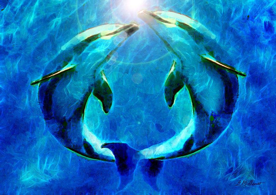 Eternal Dolphin Love Mixed Media