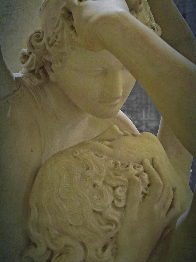 Eternal Love - Psyche Revived By Cupids Kiss - Louvre - Paris Photograph