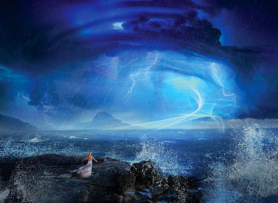 Etherstorm Digital Art  - Etherstorm Fine Art Print