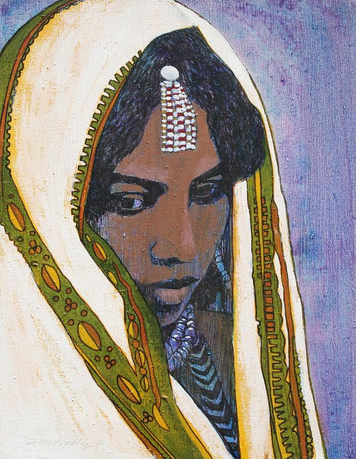 Ethiopian Woman Painting  - Ethiopian Woman Fine Art Print