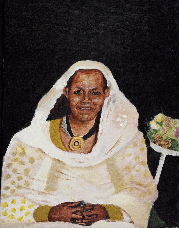 Ethiopian Woman Painting