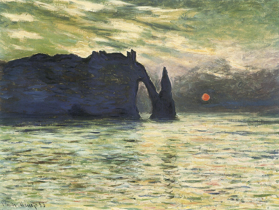Etretat Sunset Painting