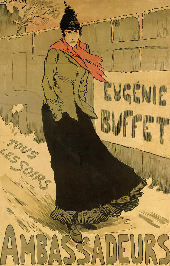 Advert Drawing - Eugenie Buffet Poster by Lucien Metivet